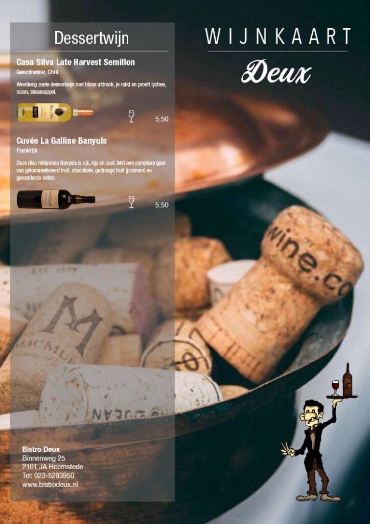 Wijnkaart Bistro Deux